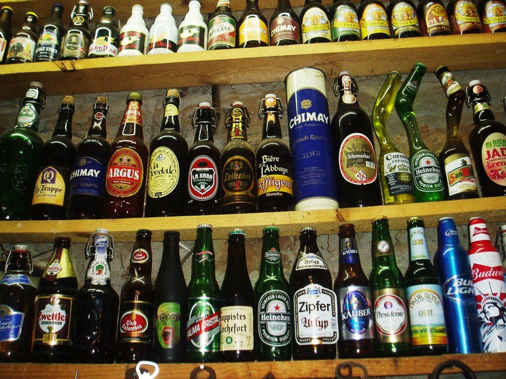 Botellas de cerveza antiguas