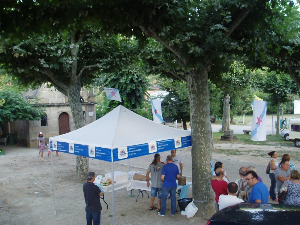 Carpa do BNG no Campo de San Roque