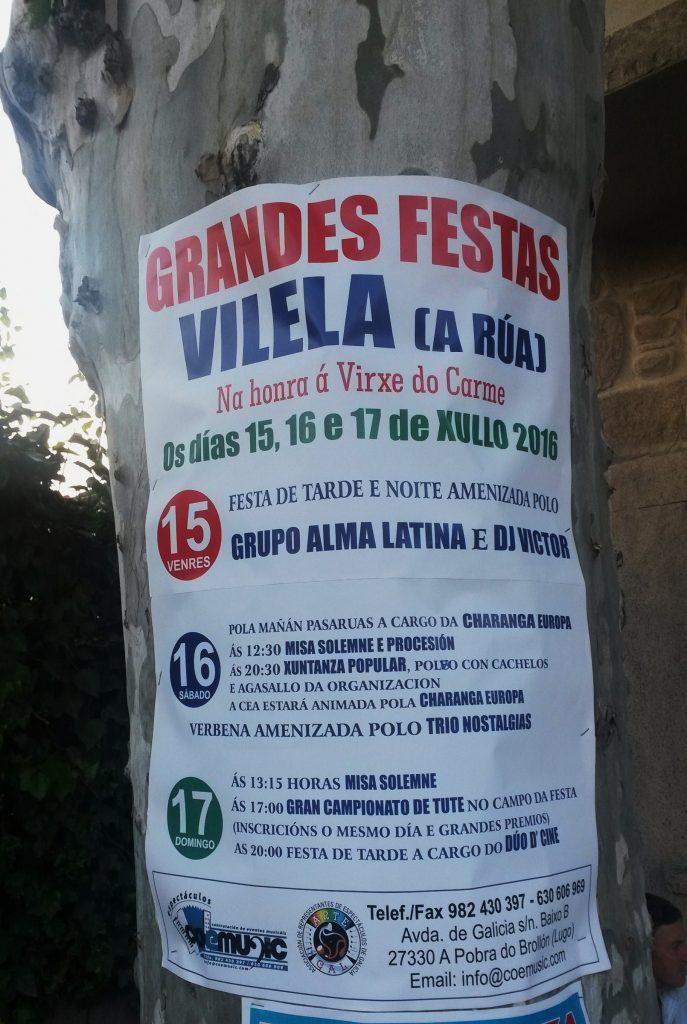 Cartel de las fiestas de Vilela