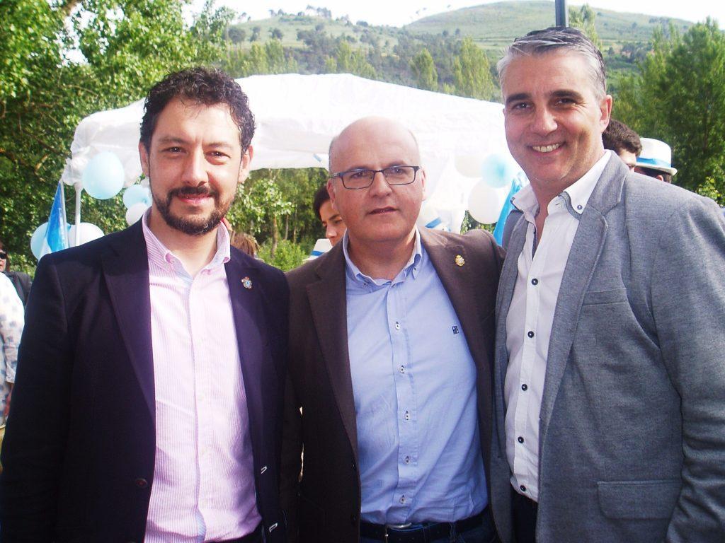 El prsidente de la Diputación con Moisés Blanco y Viso en O Barco