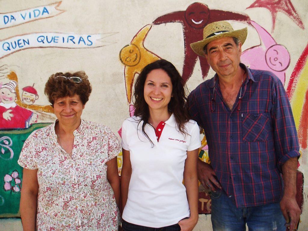 Elvira Fernández, Laura Fernández y José Luis Prieto (Lilí)