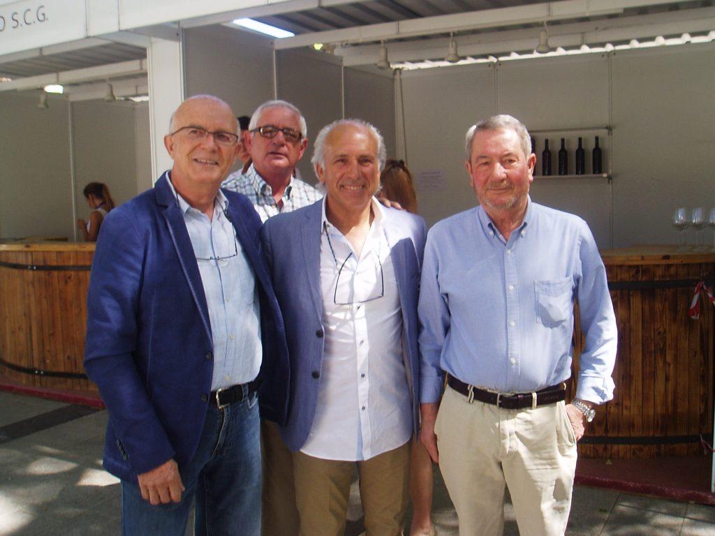 Francisco García, Álvaro Pino, Evaristo y Carlos Aristegui