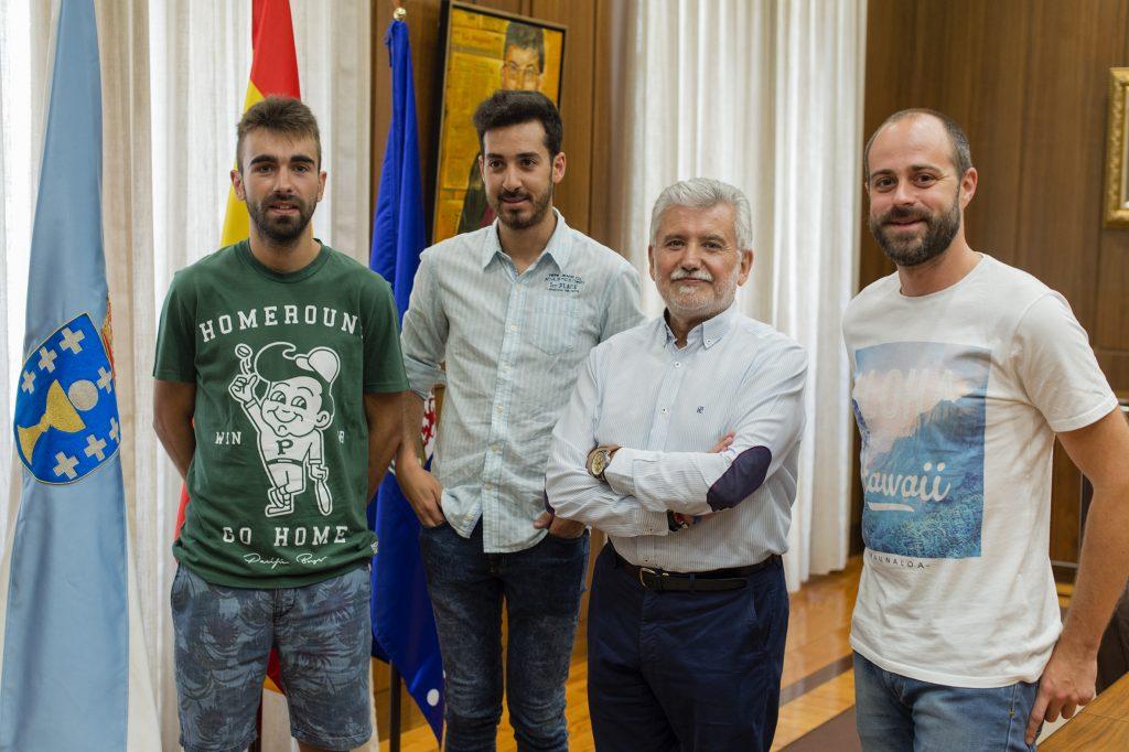 Iago Acevedo, Manuel Seguín, Rosendo Fernández e Adrián Rodríguez