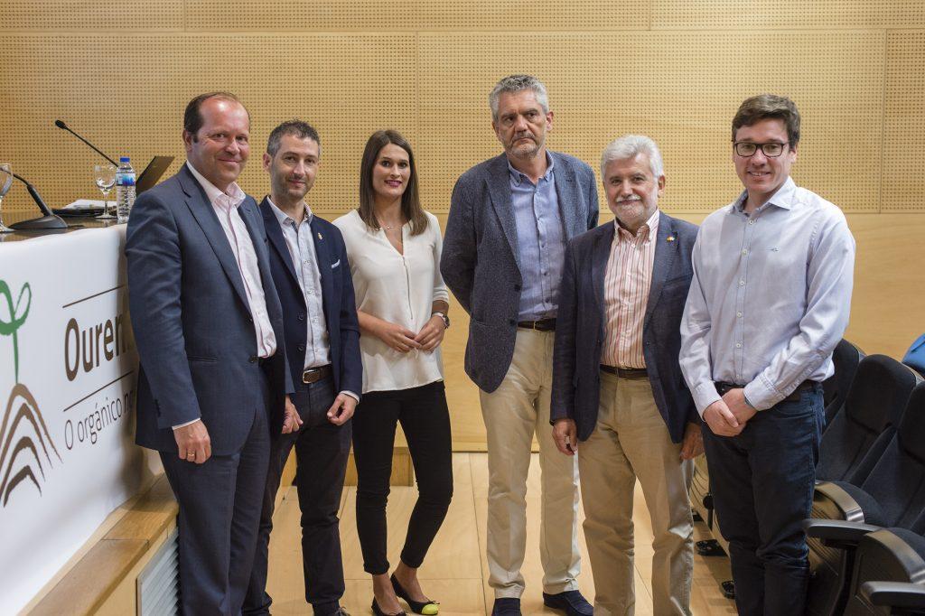 Javier Domínguez, Pablo Pérez, Mayra Moure, Javier Bobe, Rosendo Fernández e Miguel Reza