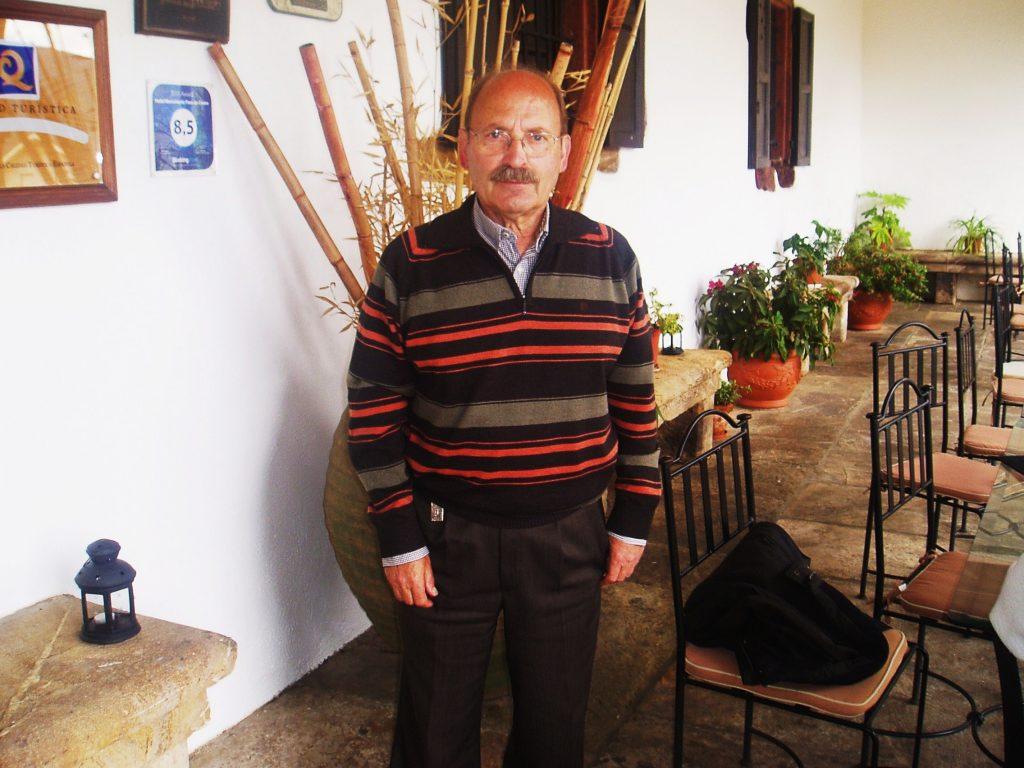 José Rúa en el Pazo de O Castro (O Barco)