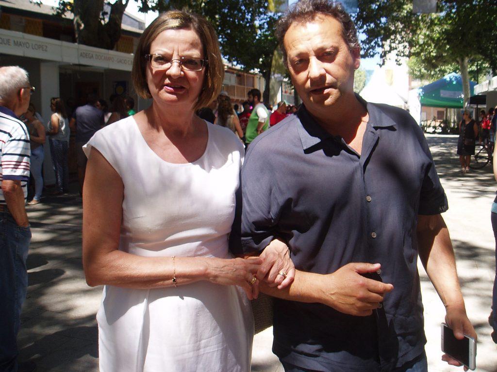 La alcaldesa de Carballeda, María del Carmen González, y el alcalde de Vilamartín, Enrique Álvarez Barreiro