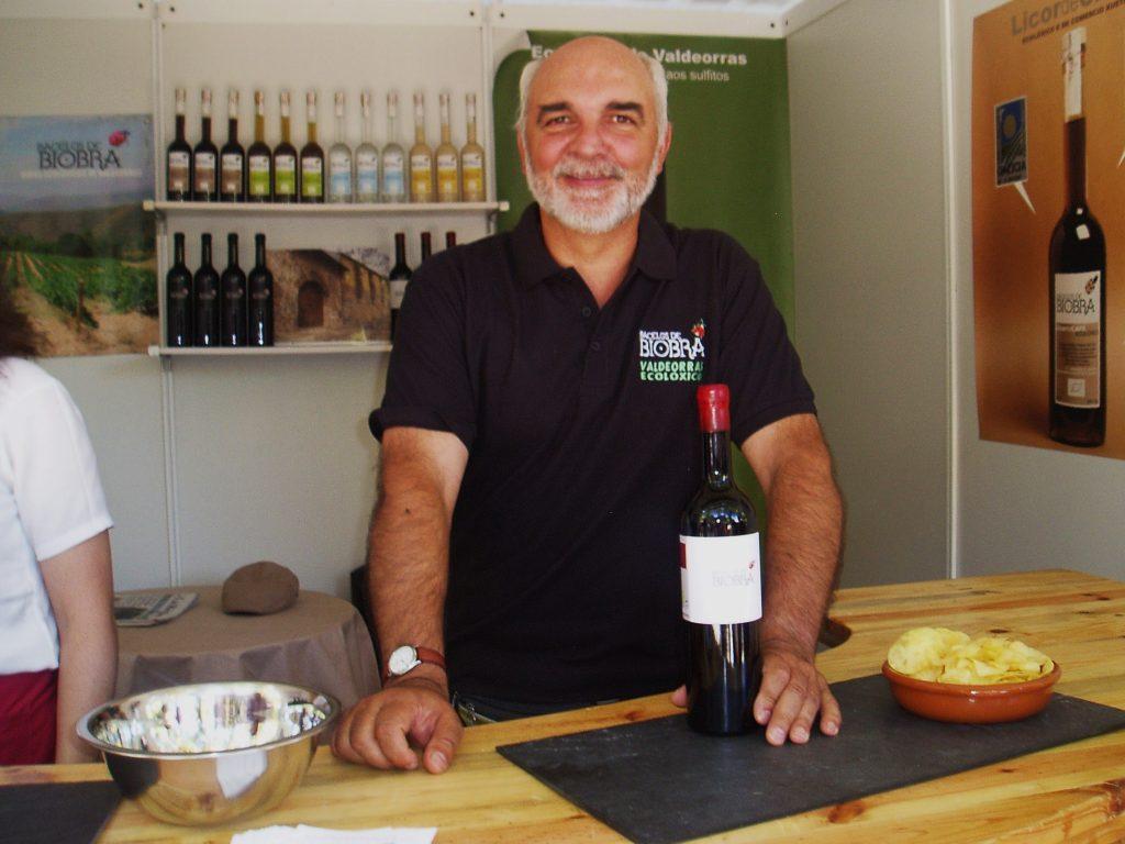 Manuel Docampo, en la reciente Feira do Viño de Viloira