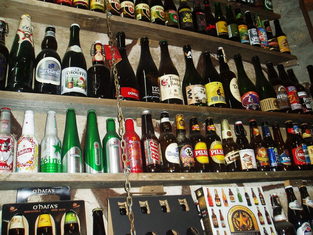 Marcas distintas de cervezas