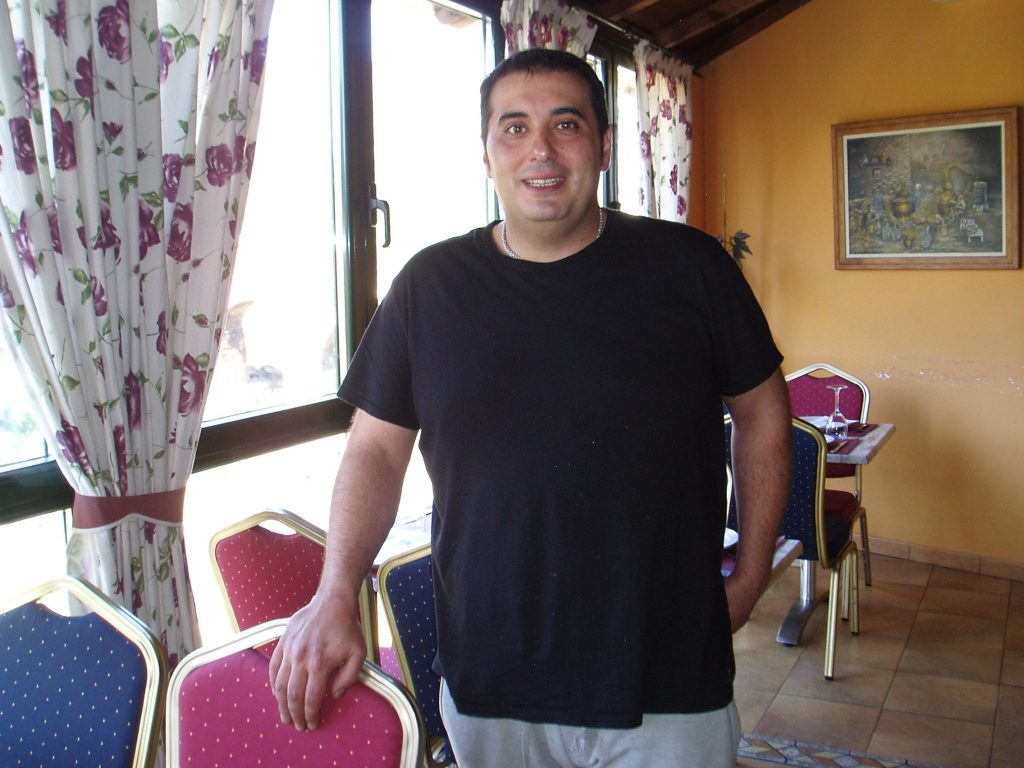 Nicolás González Ribalonga, en el comedor