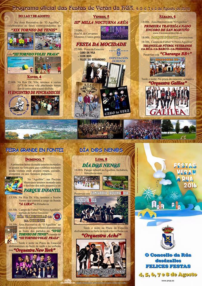 Programa Festas de Verán de A Rúa