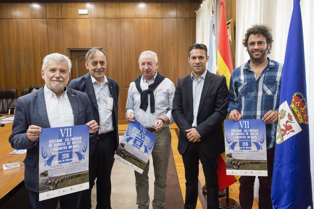 Rosendo Fernández, Xosé Lois Foxo, Manuel Doval, Gustavo Samartín e David Rodríguez