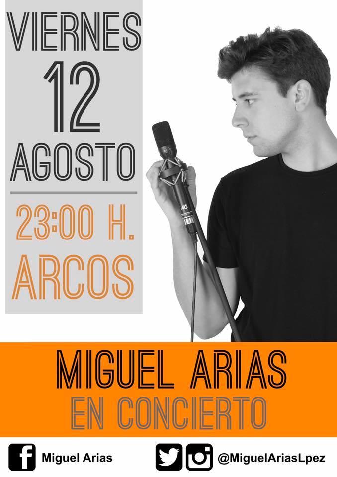 Cartel de la actuación de Miguel