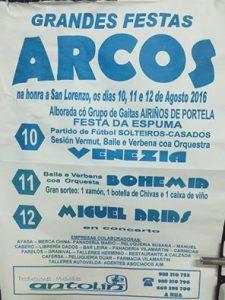 Cartel de las fiestas de Arcos 2016
