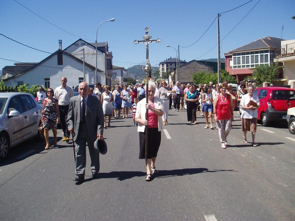 A la cabeza de la procesión