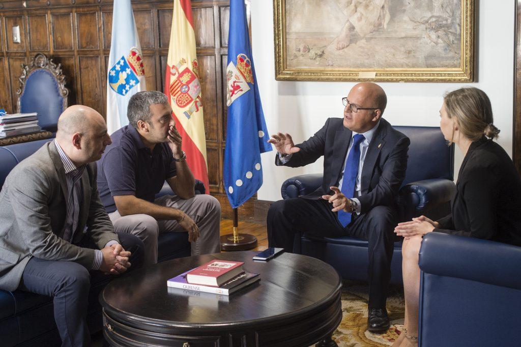 Alejandro Vázquez, Xosé Luis Reza, Manuel Baltar e Emma González