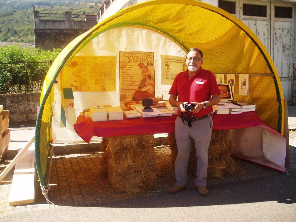 Aurelio Trincado, presidente del Instistuto de Estudios Valdeorreses en la feria