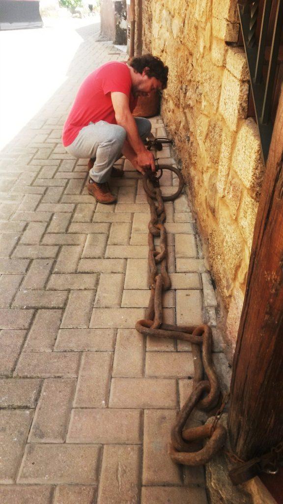 Cadena de la antigua cárcel de Petín