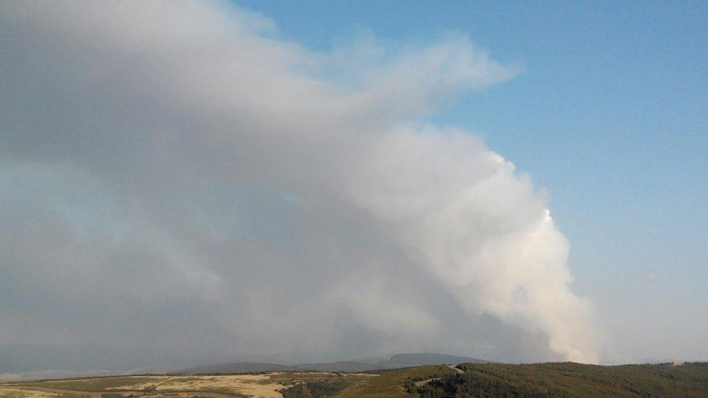 Densidad del humo en el incendio de A Veiga