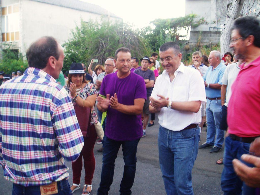 El alcalde, Enrique Álvarez,  Rafael López, Pablo Deramond, Amparo Rodríguez y Manuel Ferrer