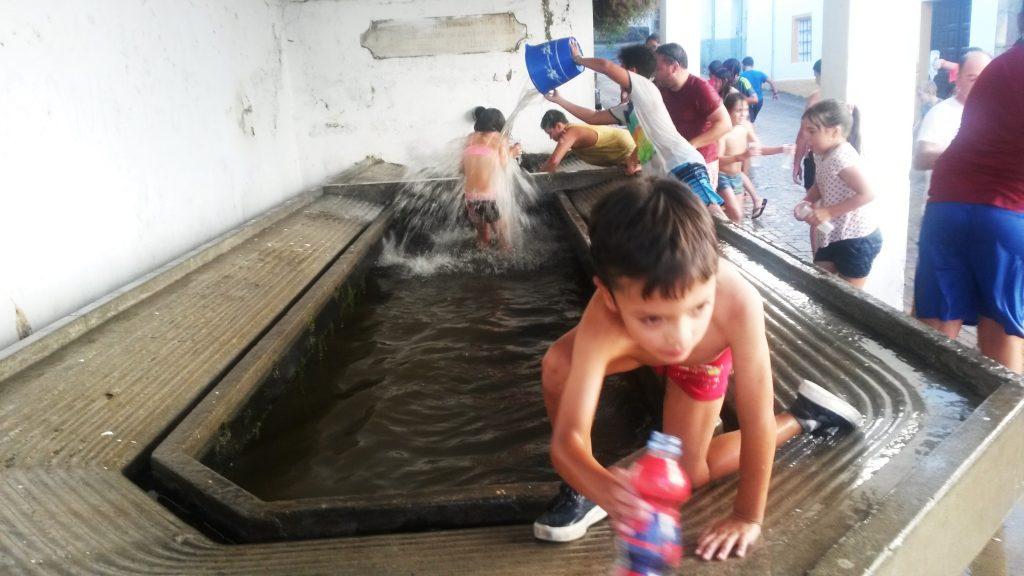 El lavadero convertido en piscina