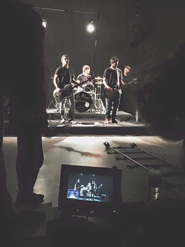 Grabación del videoclip Cultura del Vicio de Placeres Solitarios