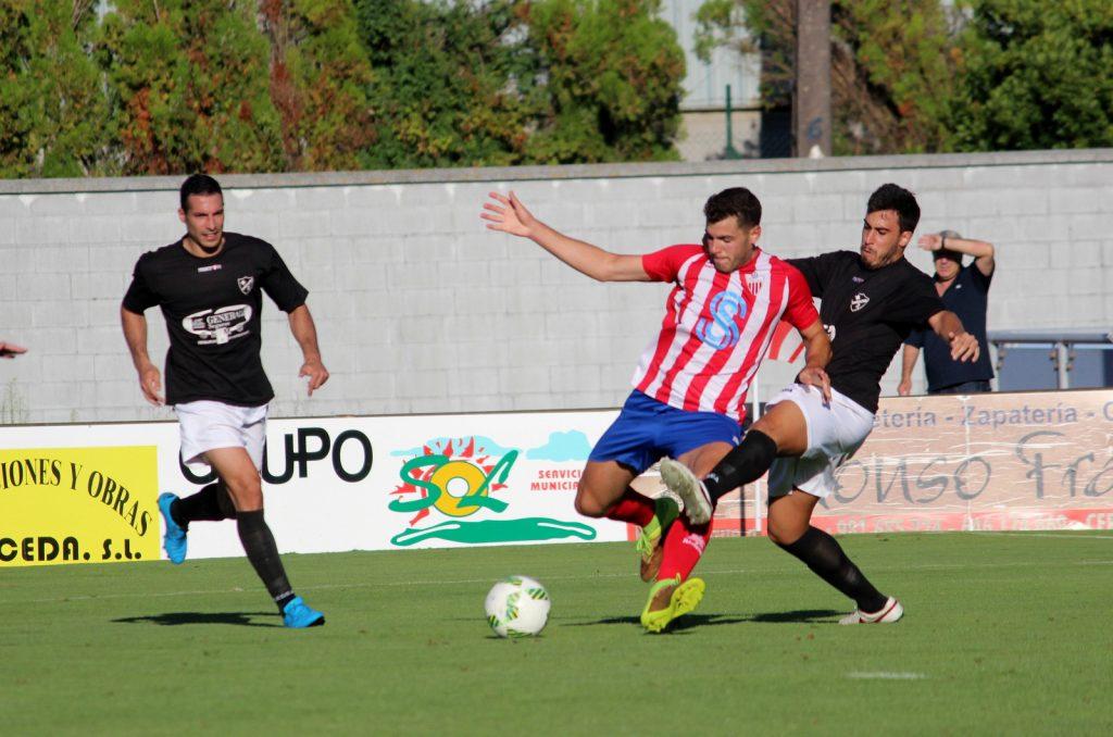 Alex Ares en el momento previo al cuarto gol