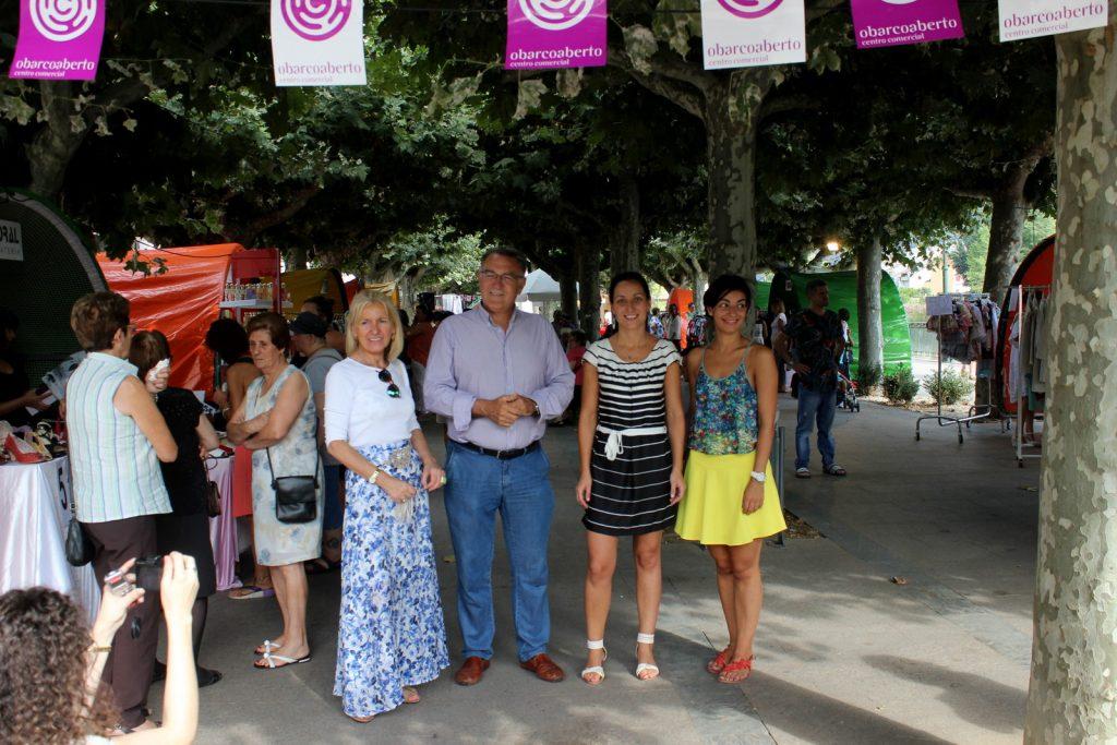 Irene Dacal (Concejala), Alfredo García (Alcalde) y Sandra Moldes (Presidenta CCA)