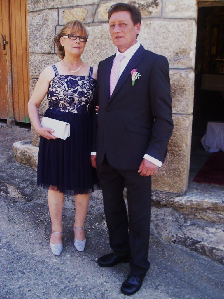 Los padres de la novia antes de la ceremonia