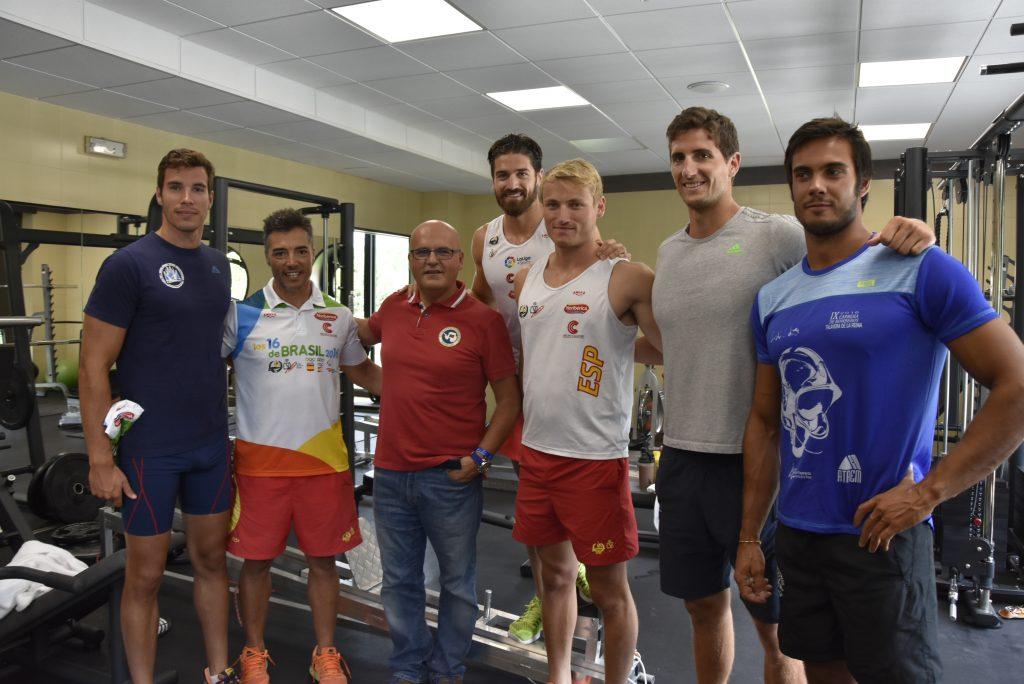 Manuel Baltar coa selección española de piragüismo