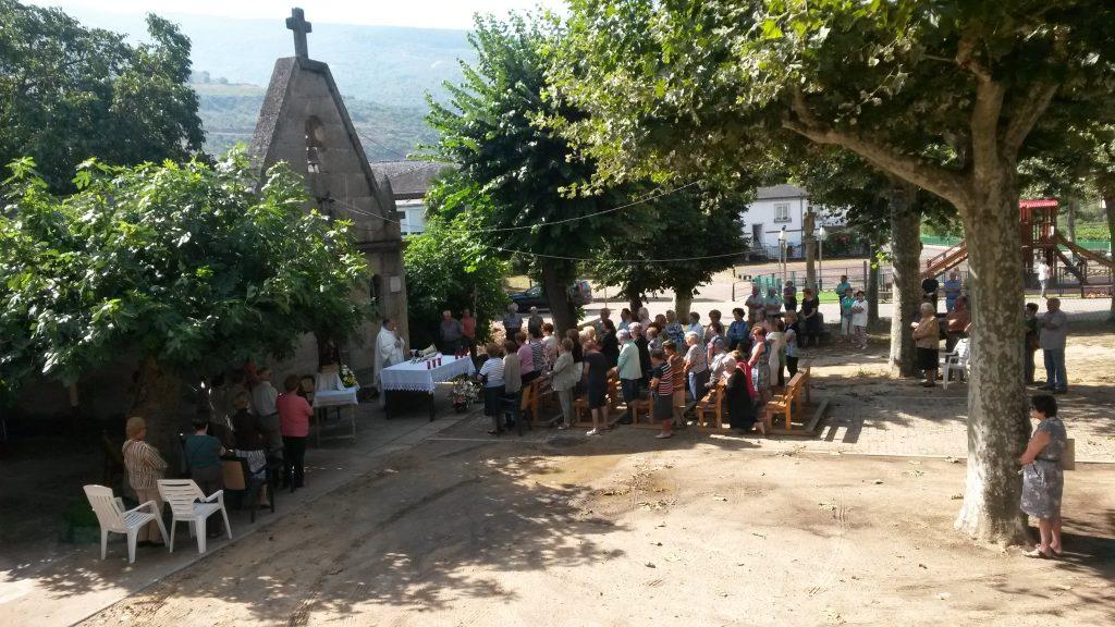 Misa en honor a San Roque en A Rúa Vella
