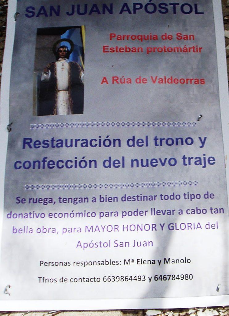 Cartel de la campaña que ha colocado la parroquia en calles de A Rúa