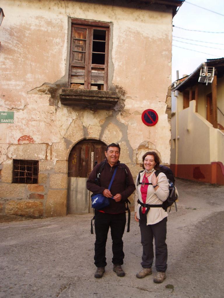 Jesús Iglesias y Eva Corrochano, peregrinos de Talavera de La Reina en Fontei