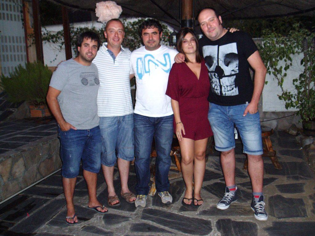 Jorge, Félix, Armando, Mireia y Juan Carlos