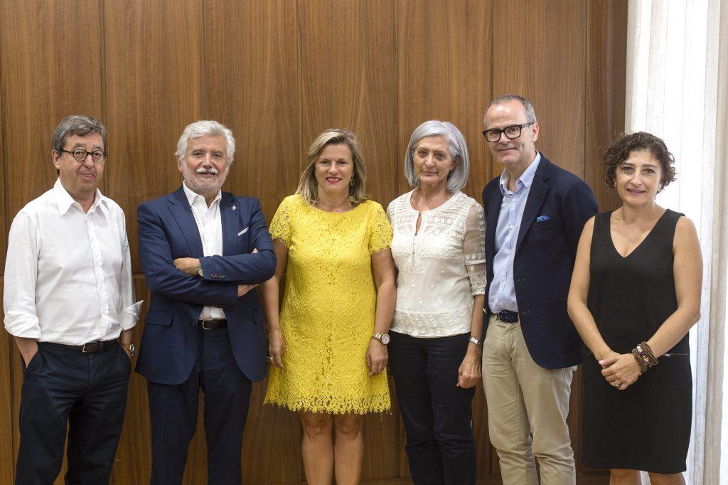 José Luis Jiménez, Rosendo Fernández, Eloína Núñez, Ascensión Pérez, Jesús Vázquez e Eugenia Díaz