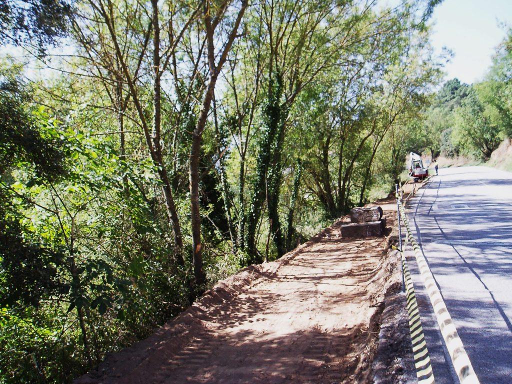 La vía peatonal del peregrino en San Miguel, en Vilamartín