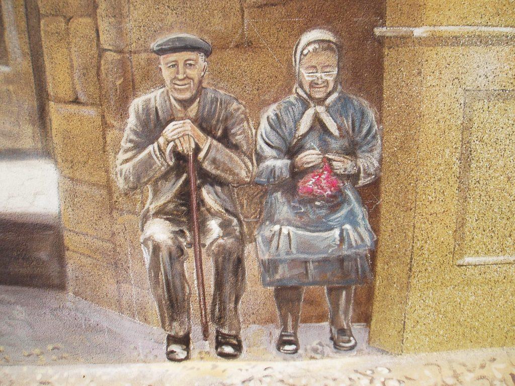 Los ancianos del mural