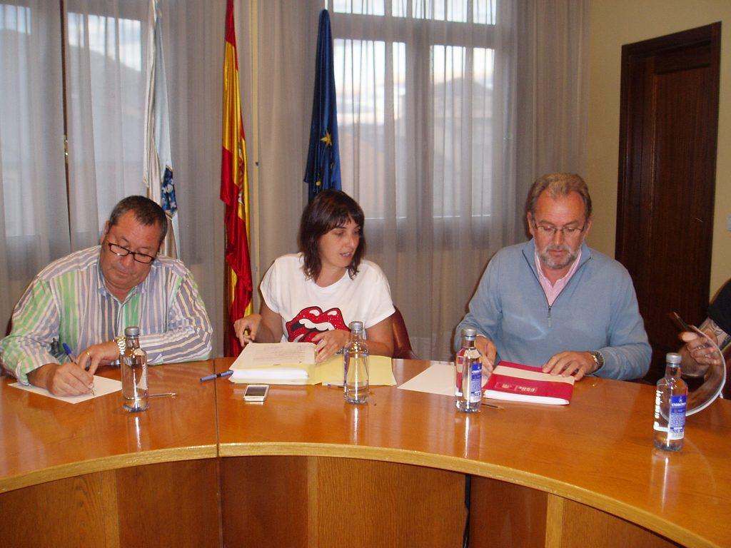 María Albert y Luis Fernández Gudiña en el pleno