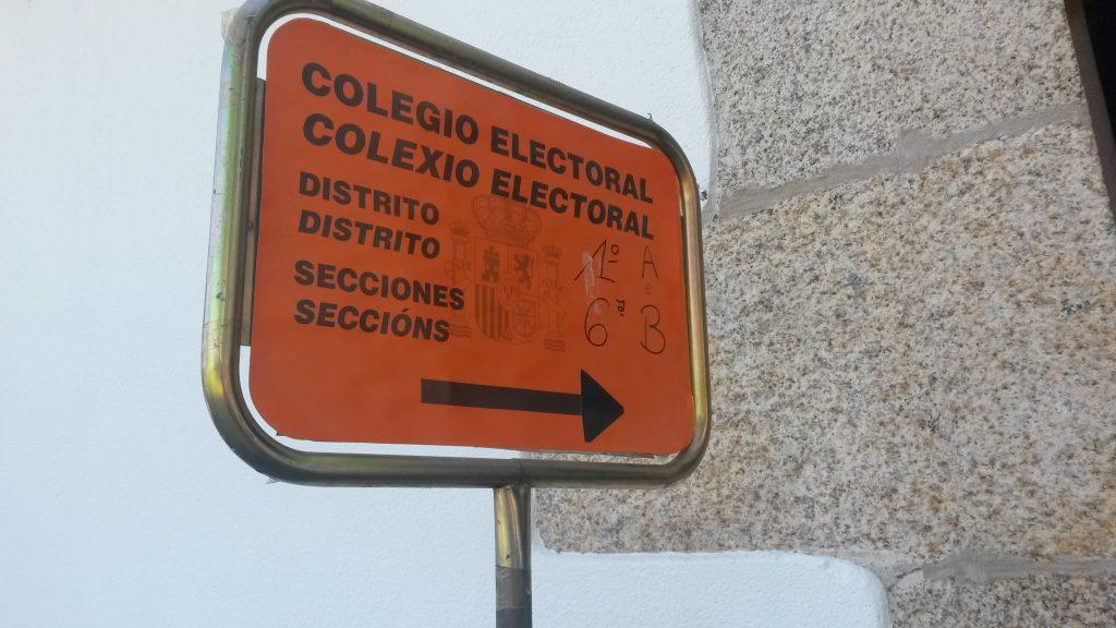 Colegio electoral en O Barco de Valdeorras en las últimas elecciones