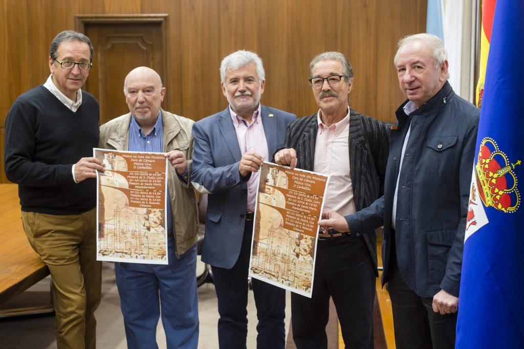 Aurelio Gómez Villar, Antonio Rey, Rosendo Fernández, Manuel Ulloa e Manuel Doval