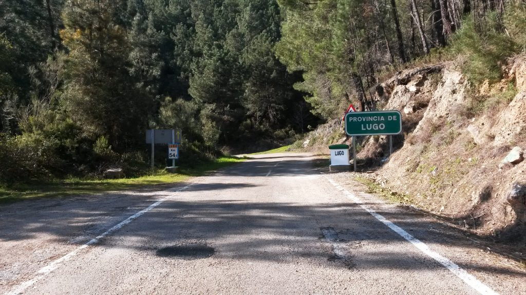 Camiño de Inverno al entrar en la provincia de Lugo
