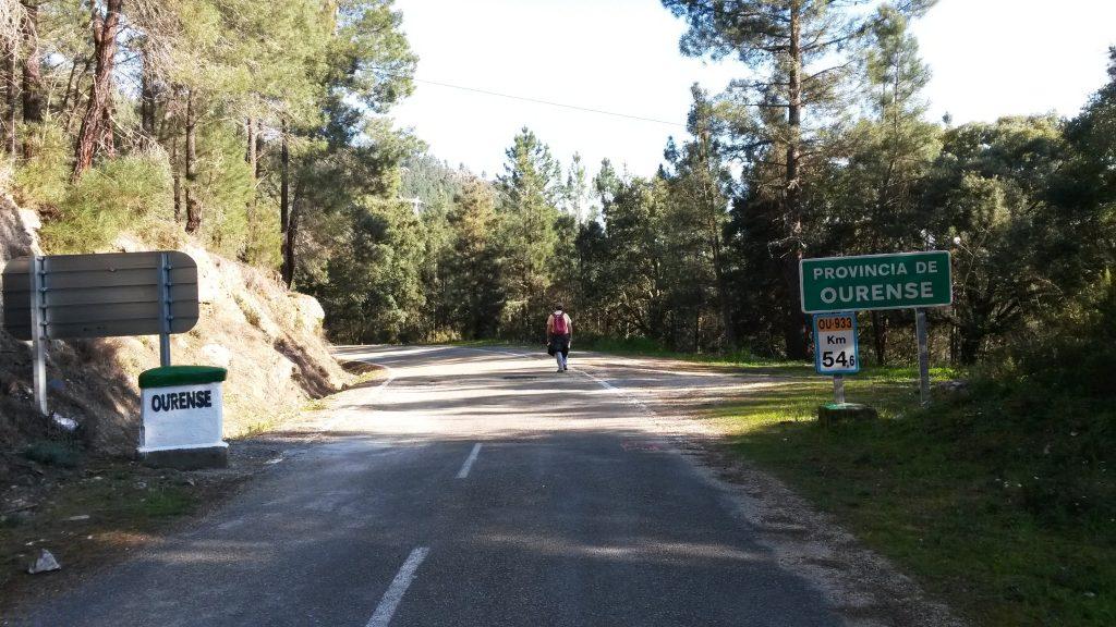 Camiño de Inverno cerca de A Rúa y hacia Os Alvaredos