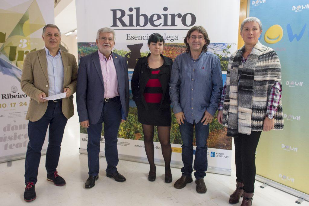 Francisco González, Rosendo Fernández, María Mendoza, Felicísimo Pereira e Mª del Pilar Prieto