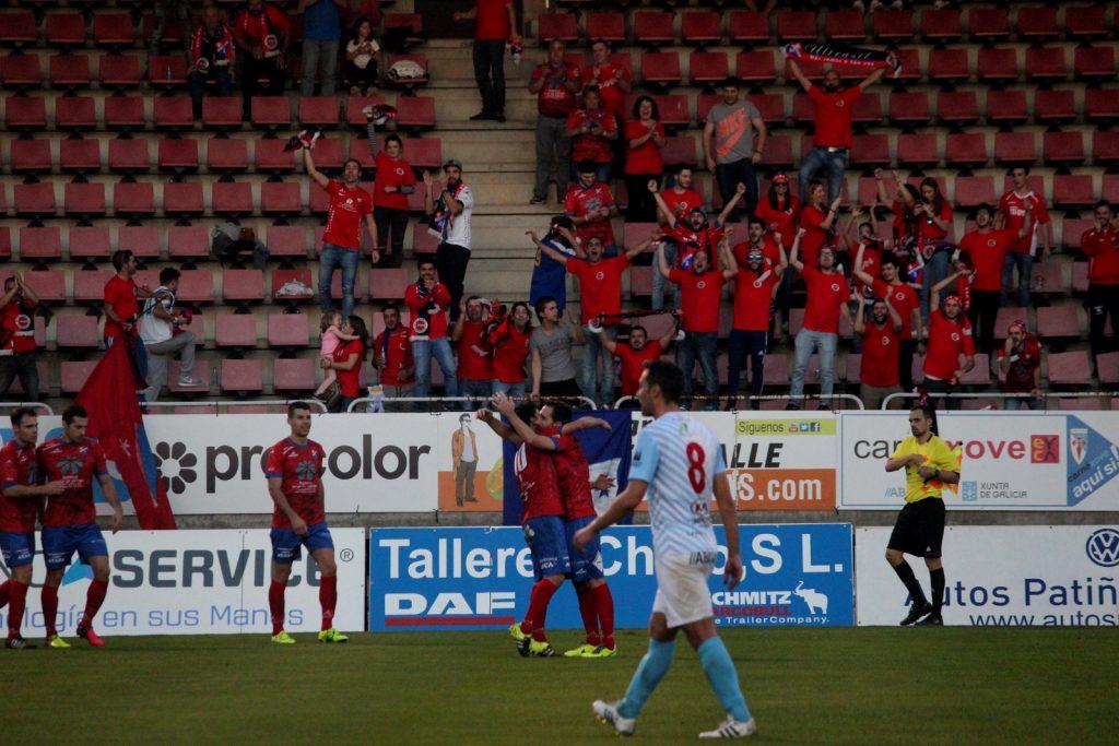 Rubén García celebra el 0 a 2 ante los UltraSil