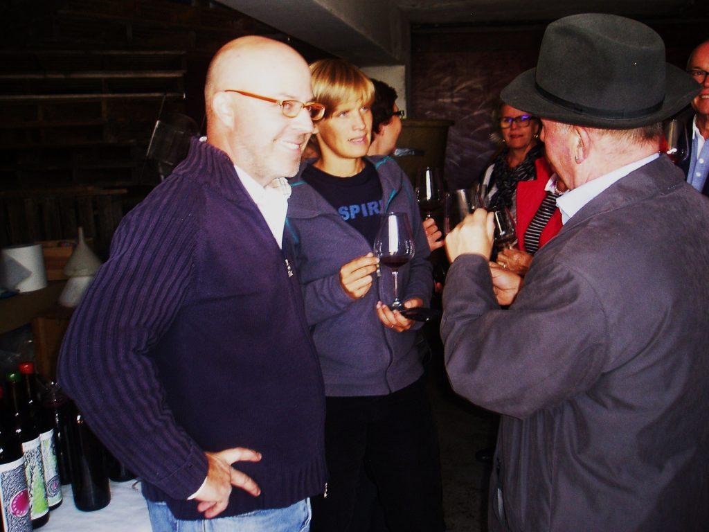 Ignacio González, Eva Pick y un visitante austríaco