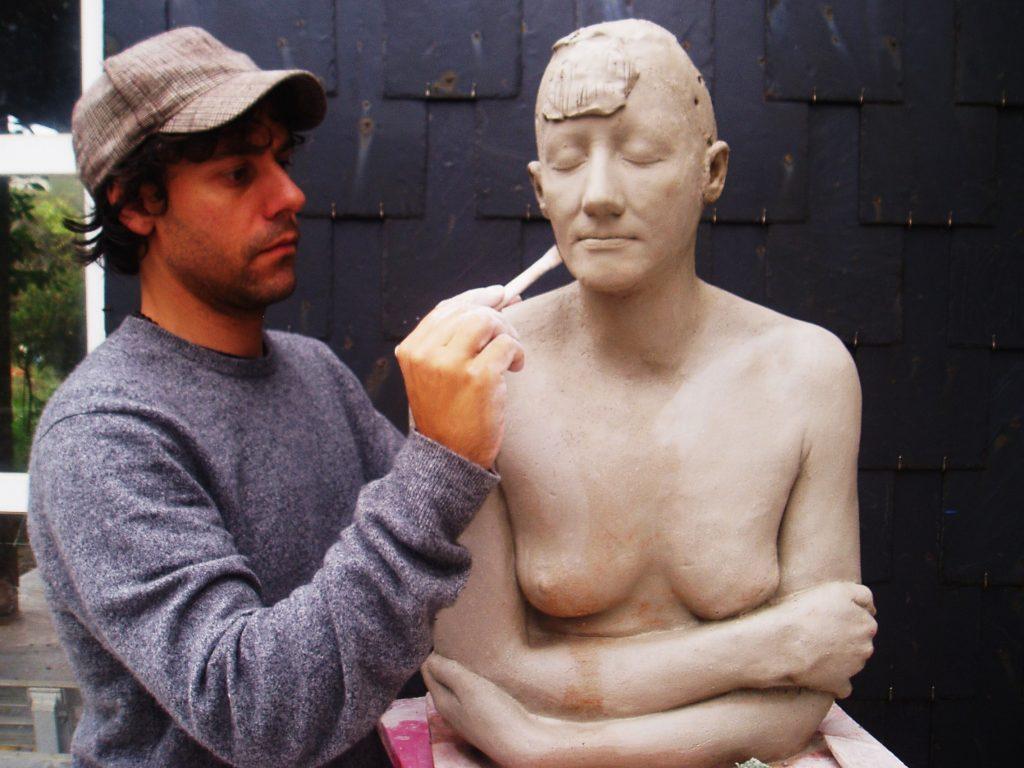 Iván Prieto con nuevas esculturas