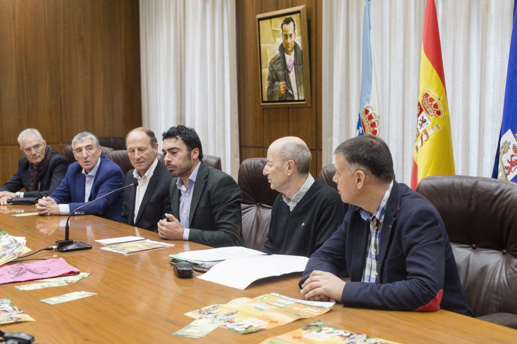 Moncho Novoa, Pepe Alfaro, Mario Guede, Juan Anta, Carlos Moure e Bernardino González