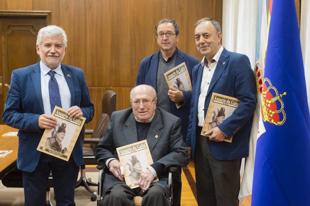 Rosendo Fernández, Manuel Rego, Aurelio Gómez Villar e Xosé Lois Foxo