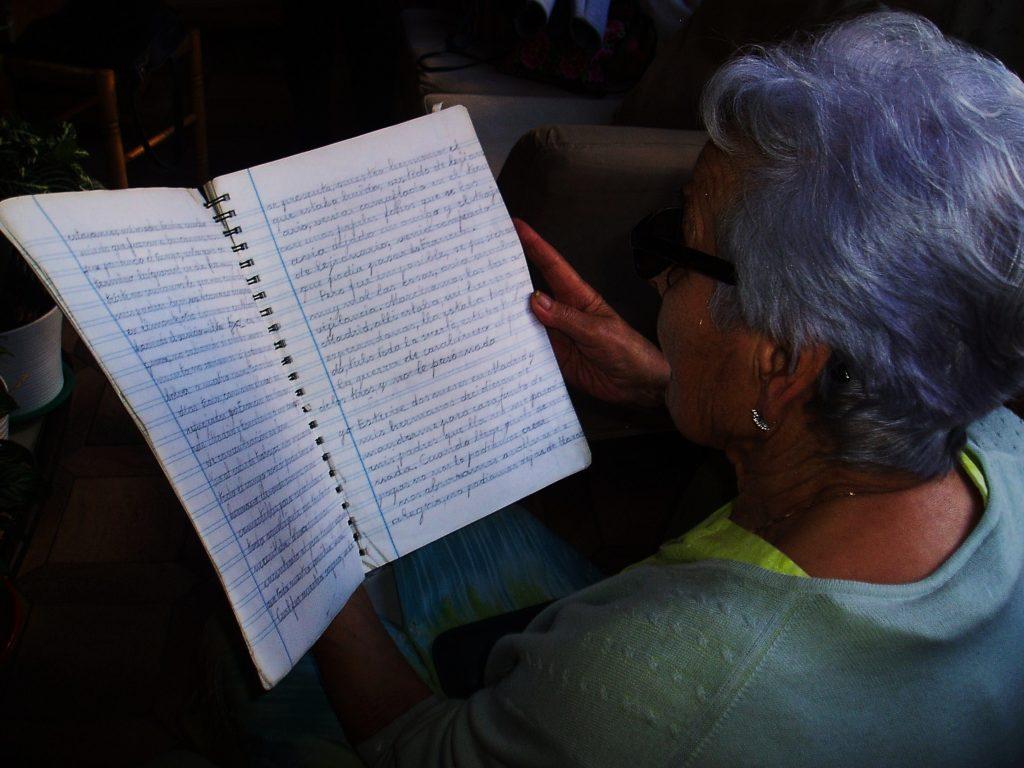 Su cuaderno con sus notas para el libro, de su puño y letra