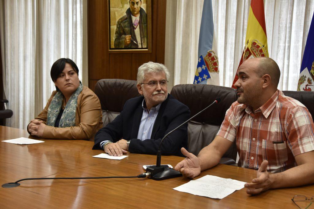 Yolanda Jácome, Rosendo Fernández e Gonzalo Buceta