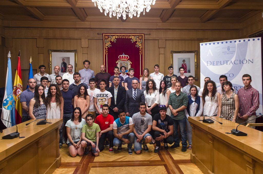 Acto de entrega das axudas a deportistas ourensáns 2014
